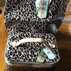 Consuela Train Case & Basic Bag in Blue Jag